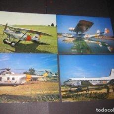 Postales: 4 POSTALES DEL MUSEO DEL AIRE ( ANTES DE PUJAR LEER FORMA PAGO, ENVÍO, ETC.). Lote 238771835