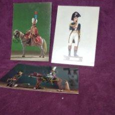 Postales: LOTE DE 3 ANTIGUAS POSTALES CON IMÁGENES DE SOLDADOS DE PLOMO, UNOS 14 X 10 CMS.. Lote 241889330