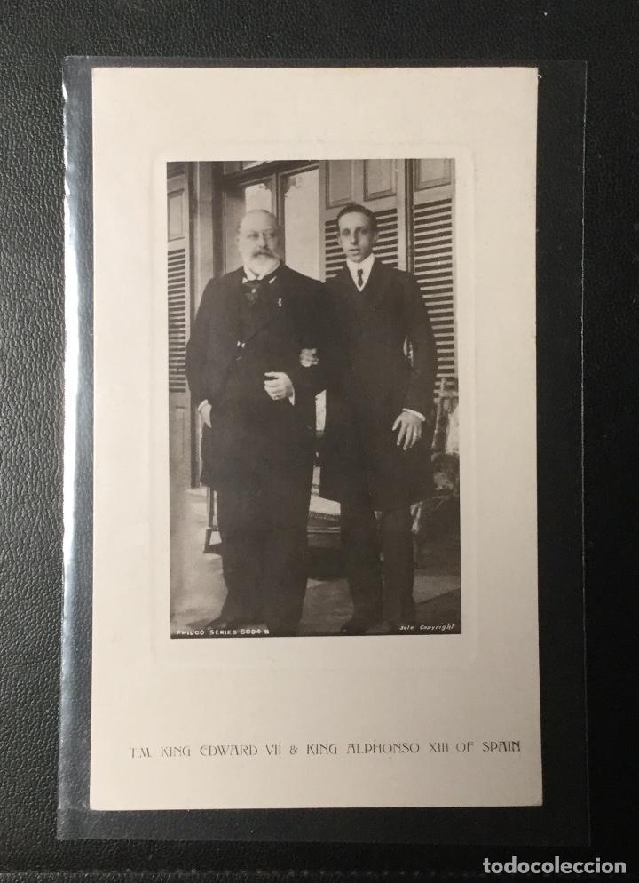 POSTAL FOTOGRÁFICA , ALFONSO XIII CON EDUARDO VII DE INGALTERRA. (Postales - Postales Temáticas - Militares)