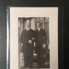 Postales: POSTAL FOTOGRÁFICA , ALFONSO XIII CON EDUARDO VII DE INGALTERRA.. Lote 243875910