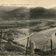 Postales: ORIGINAL - POSTAL DOBLE - GUERRA DEL RIF - UAD-LAU - LUGARES DE KOBA DARSSA - FOTO GOMEZ MADRID. Lote 244185840