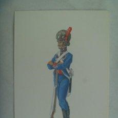 Postales: POSTAL MILITAR EJERCITO ESPAÑOL: INGENIEROS 1805-10 . ESCRITA POR GENERAL ENRIQUE DE LA VEGA VIGUERA. Lote 245721340