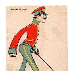 Postales: HÚSARES DE PAVIA.- COLECCIÓN ALMOGUERA.. Lote 248041990