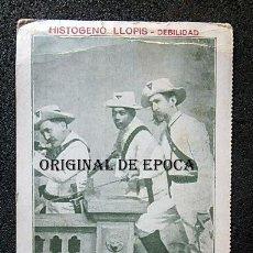 Postales: (JX-210353) POSTAL PUBLICIDAD HISTOGENO LLOPIS ,MAMBISES CUBANOS , GUERRILLEROS .. Lote 248793540