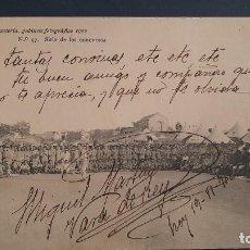 Postales: POSTAL ACADEMIA DE INFANTERIA SITIO DE LOS CONCURSOS. FIRMADO MIGUEL MARTINEZ VARA DEL REY 1912. Lote 252544260