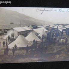 Postales: MARRUECOS-CAMPAMENTO MILITAR DE BEN KARRICH-FOTOGRAFICA-POSTAL ANTIGUA-(80.264). Lote 261264835