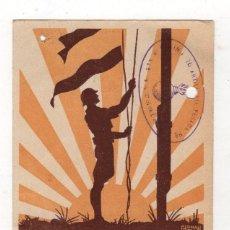 Postales: TARJETA POSTAL DE GUERRA. REGIMIENTO ARTILLERIA PESADA. 11ª BATERIA. QUINZANO, HUESCA. 1937. GERMAN. Lote 262723605