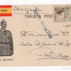 Postales: TARJETA POSTAL CENSURA MILITAR. LEON. AÑO 1937. Lote 262723855