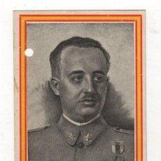 Postales: TARJETA POSTAL GUERRA CIVIL. SANGARREN, HUESCA. AÑO 1938. RETRATO DE FRANCISCO FRANCO EN FRONTAL. Lote 262724205