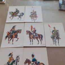 Postales: LOTE 7 POSTALES EJERCITO ESPAÑOL CABALLERÍA. Lote 263554755