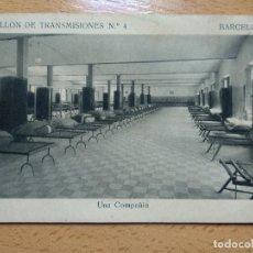 Postais: BATALLON DE TRANSMISIONES Nº 4. BARCELONA. UNA COMPAÑÍA. Lote 263960225
