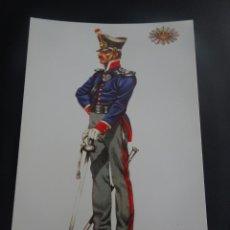 Postales: CPSM POSTAL MILITAR ,CARABINERO DE COSTAS Y FRONTERAS, ESPAÑA 1829, DELFÍN SALAS , VER FOTOS. Lote 266905359