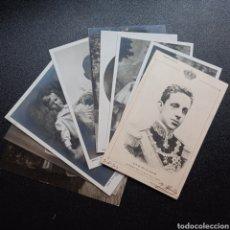Postales: LOTE POSTALES FOTOGRAFÍAS ALFONSO XIII VICTORIA EUGENIA REALEZA BORBONES FAMILIA REAL. Lote 270881598