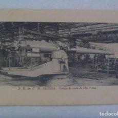 Postales: POSTAL DE CAÑON DE COSTA , SOCIEDAD ESPAÑOLA DE CONSTRUCCION NAVAL DE REINOSA. PP. DE SIGLO. Lote 271919103