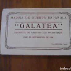 Postais: BLOC TIPO ACORDEON 10 POSTAL FOTOS BARCO GALATEA . MARINA DE GUERRA ESPAÑOLA . ESCUELA MARINEROS. Lote 273295998