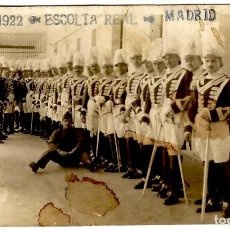 Postales: MADRID - ESCOLTA REAL - 1922 - POSTAL FOTOGRÁFICA ÚNICA - 134X84 MM.. Lote 274396288