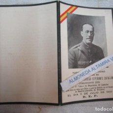 Cartes Postales: GUERRA CIVIL +- RECORDATORIO 1937, DON TOMAS DORREGO, COMANDANTE JEFE 5º TABOR LARACHE + INFO. Lote 278431658