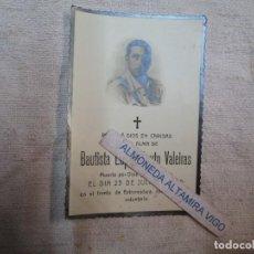 Cartes Postales: GUERRA CIVIL - RECORDATORIO 1938, BAUTISTA LOPEZ SOUTO, SARGENTO VOLUNTARIO FRENTE EXTREMADURA +INFO. Lote 278431768