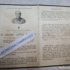 Cartes Postales: GUERRA CIVIL VIGO - RECORDATORIO VIGO 1941,JULIAN LOPEZ SEVILLA - UNIFORMADO TENIENTE CARABINEROS +. Lote 278431998