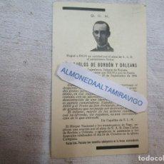 Cartes Postales: GUERRA CIVIL FRENTE EIBAR 1936 - RECORDATORIO CARLOS DE BORBON Y ORLEANS, ALFEREZ INGENIEROS +. Lote 278432143