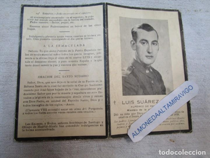 GUERRA CIVIL LUIS SUAREZ EIRE - MIEMBRO JUVENTUD CATOLICA - FRENTE TERUEL 1938 + INFO (Postales - Postales Temáticas - Militares)