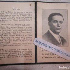 Postales: GUERRA CIVIL RECORDATORIO - D. JOSE CALVO SOTELO, MADRID 1936 + INFO. Lote 278432368