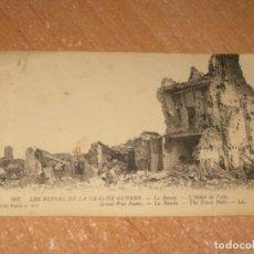 Postales: POSTAL DE LES RUINES DE LA GRANDE GUERRE. Lote 278466298