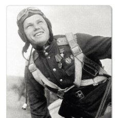 Postales: WWII IVAN KOZHEDUB SOVIET MILITARY AVIATOR & FIGHTER ACE NEW UNPOSTED POSTCARD. Lote 278727753