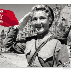 Postales: WWII WOMAN TRAFFIC CONTROLLER GIRL IN BERLIN AK -47 USSR NEW UNPOSTED POSTCARD. Lote 278729038