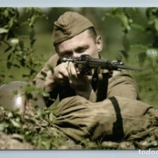 Postales: WWII SNIPER SOVIET SOLDIER WITH RIFLE MILITARY SONG RUSSIAN NEW POSTCARD - IGOR LITVYAK. Lote 278737543