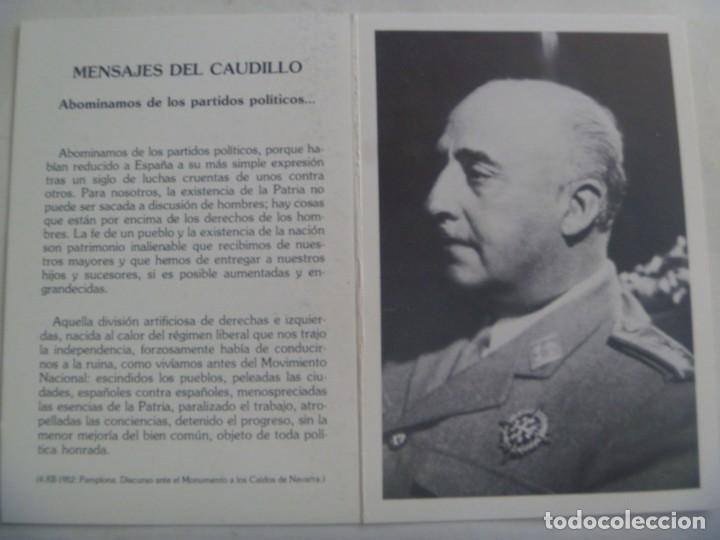 RECORDATORIO MUERTE DE FRANCISCO FRANCO . FUNADACION FRANCISCO FRANCO, 1987 (Postales - Postales Temáticas - Militares)