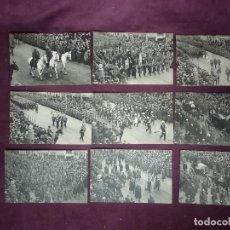 Cartoline: 1934, 9 ANTIGUAS POSTALES DE DESFILES MILITARES, BÉLGICA, FUNERALES DEL REY ALBERTO 1º. Lote 287683398