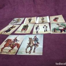 Cartoline: 10 POSTALES DE UNIFORMES MILITARES FRANCESES, DE ACUARELAS, MUSEO PHALSBOURG. Lote 287689378