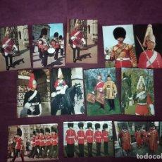 Cartoline: 12 POSTALES DE UNIFORMES MILITARES INGLESES. Lote 287690078