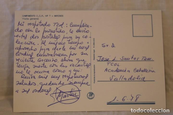 Postales: VALENCIA CAMPAMENTO MILITAR C I R Nº 7 MARINES VISTA GENERAL 1978 - Foto 2 - 288501638