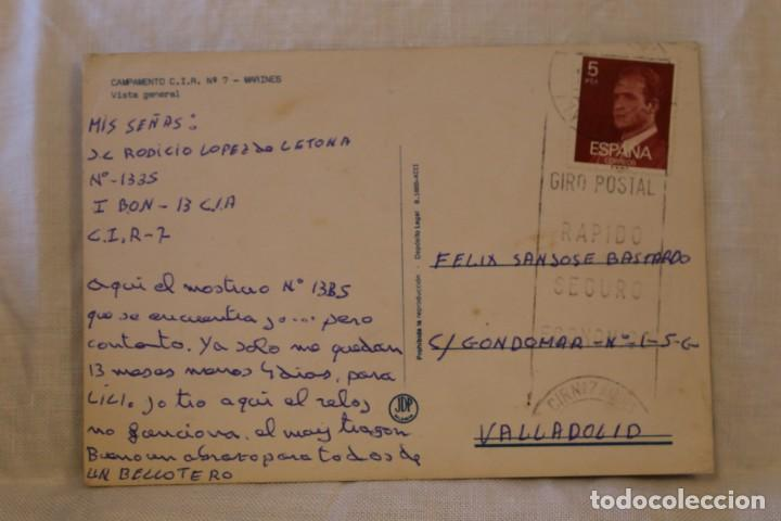 Postales: VALENCIA CAMPAMENTO MILITAR C I R Nº 7 MARINES VISTA GENERAL MATASELLOS CIR - Foto 2 - 288502423