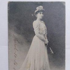 Postales: POSTAL, S. M. DOÑA VICTORIA EUGENIA, REINA DE ESPAÑA , FERROL 16-10-1907, HAUSER Y MENET, CIRCULADA. Lote 288860498
