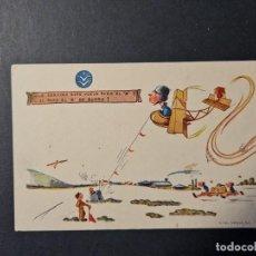 Postales: POSTAL HUMORISTICA ESCUELA DE AVIACION. FRENTE JUVENTUDES ED,CIGUEÑA CURSO TITULO B 1942. Lote 288915468