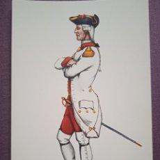 Postales: TARJETA UNIFORME AÑO 1768 DEL REGIMIENTO DEL REY NÚM.1. Lote 289484243