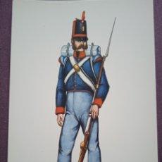 Postales: TARJETA UNIFORME AÑO 1812 DEL REGIMIENTO DEL REY NÚM.1. Lote 289485123
