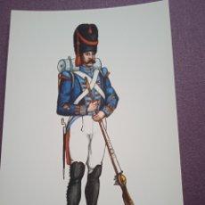 Postales: TARJETA UNIFORME AÑO 1815 DEL REGIMIENTO DEL REY NÚM.1. Lote 289485398