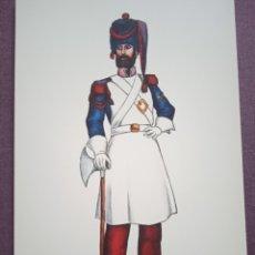 Postales: TARJETA UNIFORME AÑO 1821 DEL REGIMIENTO DEL REY NÚM.1. Lote 289485648