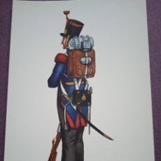Postales: TARJETA UNIFORME AÑO 1830 DEL REGIMIENTO DEL REY NÚM.1. Lote 289485973