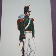 Postales: TARJETA UNIFORME AÑO 1841 DEL REGIMIENTO DEL REY NÚM.1. Lote 289486428