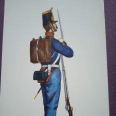 Postales: TARJETA UNIFORME AÑO 1848 DEL REGIMIENTO DEL REY NÚM.1. Lote 289487243