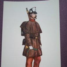 Postales: TARJETA UNIFORME AÑO 1862 DEL REGIMIENTO DEL REY NÚM.1. Lote 289487513
