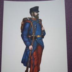 Postales: TARJETA UNIFORME AÑO 1890 DEL REGIMIENTO DEL REY NÚM.1. Lote 289487818