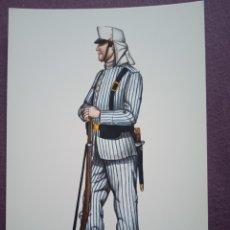 Postales: TARJETA UNIFORME AÑO 1910 DEL REGIMIENTO DEL REY NÚM.1. Lote 289488078