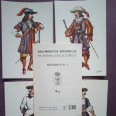 Postales: 18 POSTALES UNIFORMES REGIMIENTO DEL REY NÚM 1. Lote 289489128