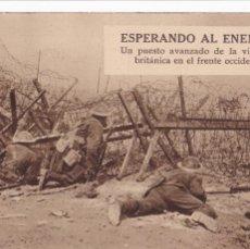 Postales: SEGUNDA GUERRA MUNDIAL, ESPERANDO AL ENEMIGO. VER REVERSO. Lote 289722188